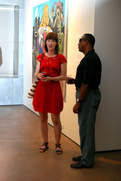 Miranda Saks at The Juvenal Players Opening Reception at Grand Arts