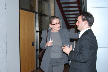Sonja Stillman and Pablo Helguera at the Opening Reception for The Juvenal Players.